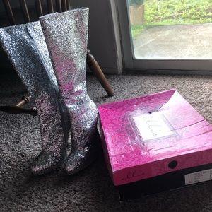 Glitter boots 4 1/2 heels